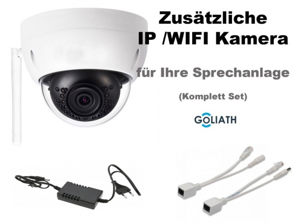 GOLIATH AV-VTZ315 WIFI 4 MP Kamera Set für Sprechanlagen