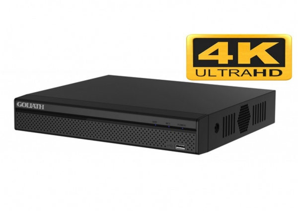GOLIATH - 8 Kanal - IP NVR Recorder Ultra-HD 4K POE